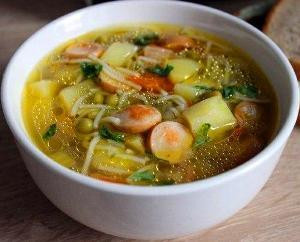 быстрый суп с сосиской фото